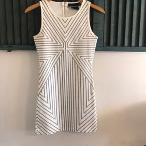 MinkPink black and white fitted dress size s